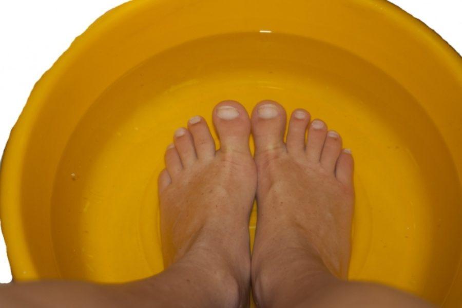 Ванночка для ног с уксусом