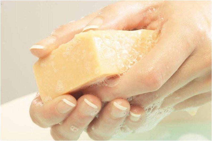Размачивание хозяйственного мыла