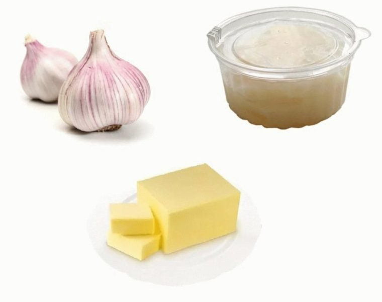 Мазь из чеснока и сливочного масла