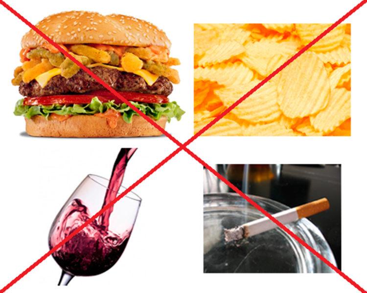 Нежелательные для употребления продукты