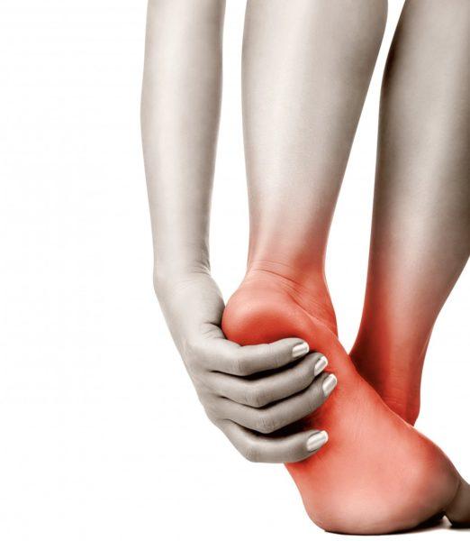 Боль на ступнях из-за шипицы