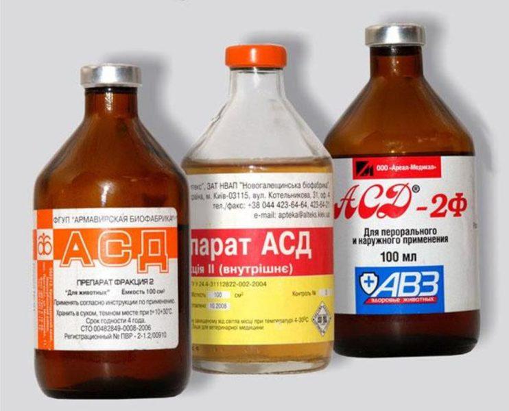 Препараты АСД разных фракций
