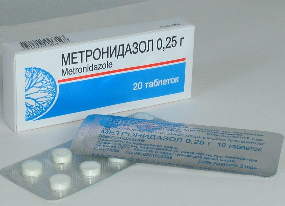 лечение нистатином и метронидазолом