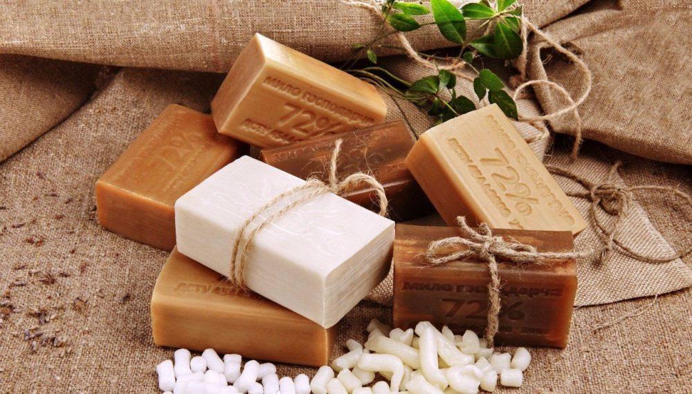 Хозяйственное мыло от папиллом на шее, теле и интимных местах