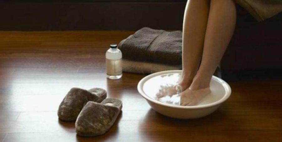 Ванночки с уксусом и солью