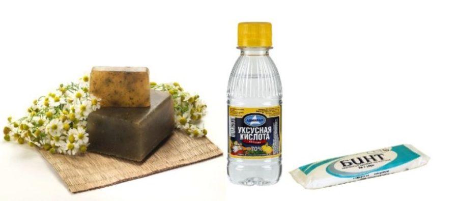 Уксус и хозяйственное мыло