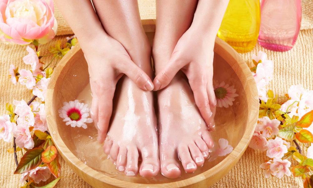 Ванночки для ног от грибка в домашних условиях